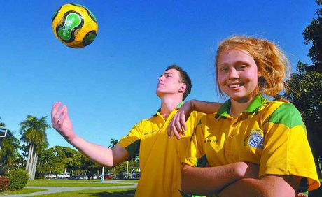 Moranbah's Mitchell Williams and Mackay's Kelsey Icardi are heading to Brazil this morning as part of the junior Australian futsal sides.