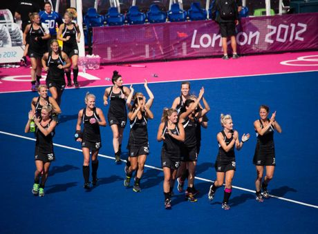 New Zealand players at the Olympics.