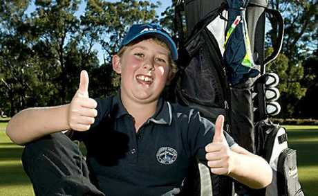 Eleven-year-old Riley Stone back on course this week after his Braiswick Trophy final victory on Sunday.