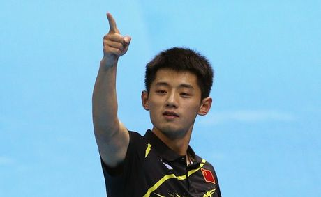 Zhang Jike has won gold in the men's singles.