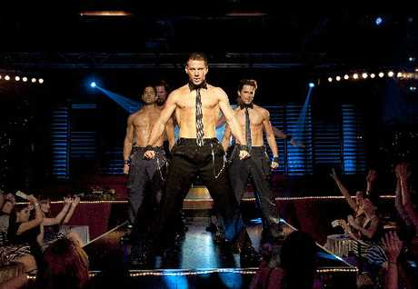 Tatum Channing (front) is built for the job.