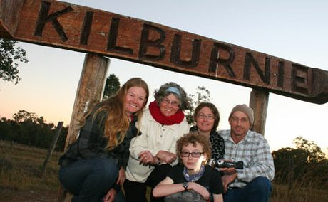 SPOOKY TALES: Helen Benecke, Heather Stuart and Fiona, Allan and William Hayward hosted a ghost night at Kilburnie homestead on the weekend.