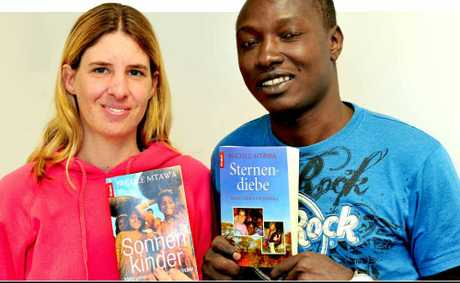 Author and humanitarian Nicole Mtawa and husband Juma are staying with friends in Tewantin on a break from her work helping to alleviate child poverty, ill health and suffering in India and Africa. 