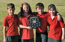 Junior School Clan champions Cameron, (from left) Jayden Lippi, Georgie Hackett, Tom Keable and Alanah Charge.