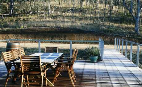 Linda Bunch's veranda was covered in a white sheet of frost this week. See the paper for more Wonderful Warwick photos.