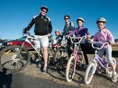 PEDAL POWER: There are two family ride options at the NAB Coffs Coast Cycle Challenge in August.