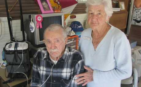 Lazy Acres Caravan Park residents Clarrie and Alisa Chappel don&#39;t know how they could possibly move if they were forced out.