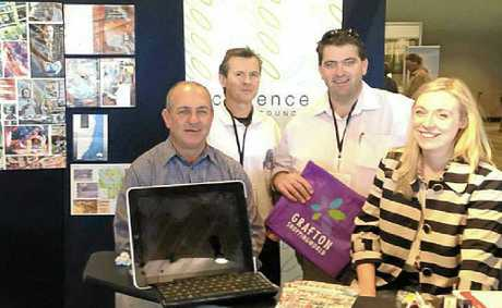 Greg Hayes, Noel Smith, Cr Richie Williamson and DEX editor Jenna Cairney at the Country and Regional Living Expo in Sydney.