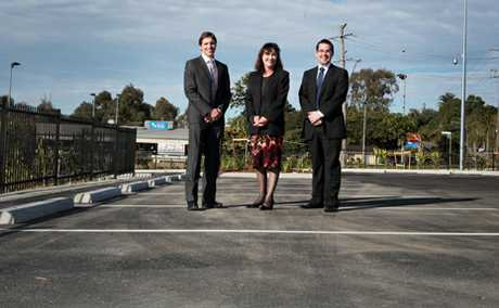 PARKING HELP: MP Tanya Smith at the new Park 'n' Ride at Jindalee.