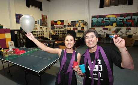 Lauren Crom and Richard Langfors from Brisbane Youth Service are invitiing people to party with a purpose on August 14 to support homeless youth.