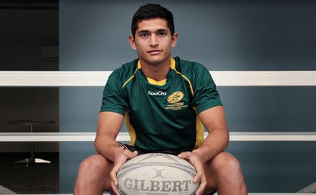 RUGBY STAR: Dylan Dodd was picked for the Australian Boys Indigenious rugby team.