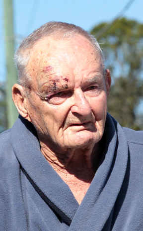 BACK HOME: Inala's Harold Dickson who was injured during the robbery.