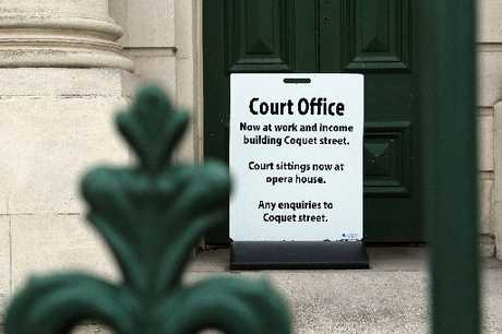 DOORS SHUT: Oamaru Courthouse has been closed after being identified as an earthquake risk. PHOTO/REBECCA RYAN
