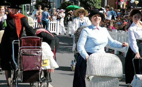 The hotly contested Nanny Race is a feature of Maryborough&#39;s annual Mary Poppins festival.
