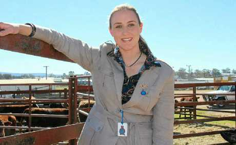 YOUNG GUN: Emma Thompson, the youngest-ever chief steward at the Brisbane Ekka.