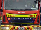 A man has been hurt at a rural Te Puke workplace as emergency services respond to a fire.