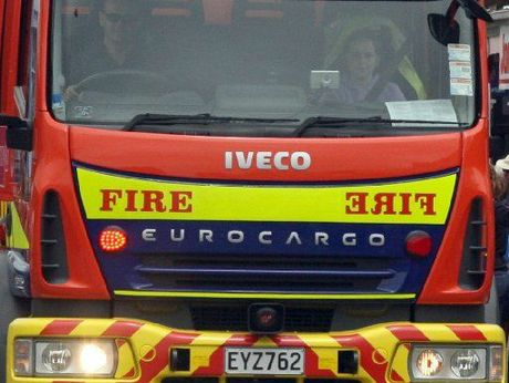 A man has had a lucky escape from a house fire.