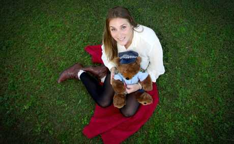 Jess McDonald and police teddy are getting ready for the teddy bear's picnic next month.
