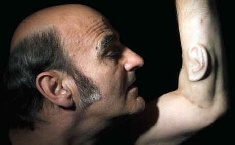Performance artist Stelarc will visit the University of Southern Queensland to present a talk about his controversial art. Recently he had an ear surgically inserted into his forearm. CREDIT: Nina Sellars