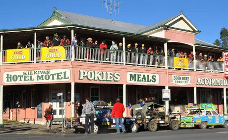 Variety Bash teams called in to the Kilkivan pub to pay a visit to Variety supporters Fred and Sandy Brophy and present educational equipment to a Kilkivan State School student.