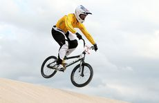 Sam Willoughby (pic) and Khalen Young have progressed into the the men's BMX semi-finals.