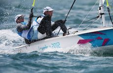 Malcolm Page and Mathew Belcher won the men&#39;s 470 dinghy gold medal.