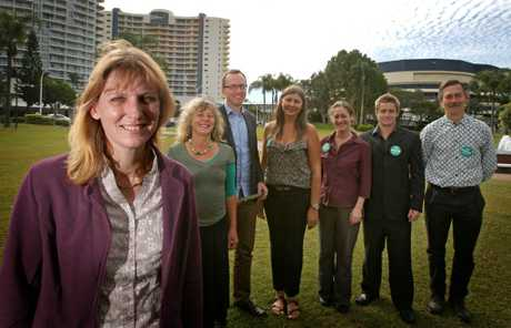 Katie Milne, Joanna Gardner, David Shoebridge, Kirsten Ealand, Andrea Vickers, Mick Munday and Ian Willis at the launch.
