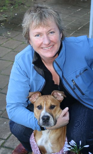 Newly appointed Waikato SPCA manager Catherine Fletcher is keen to see more animals rehomed, including 'family friendly' 5-month-old bulldog-cross Winston.