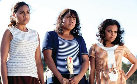From left, Jessica Mauboy, Deborah Mailman and Miranda Tapsell in a scene from the movie The Sapphires.