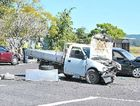 The scene of a fatal accident involving three cars on the Yandina-Coolum Road.