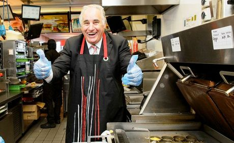 """Lambassador"" Sam Kekovich gets excited about two new lamb items on the the McDonald's menu."