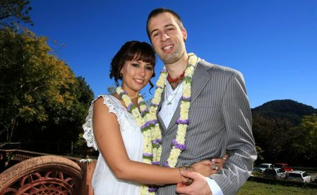 Nicole Durr and Maddy Jean-Claude Durr married in a Hare Krishna ceremony.