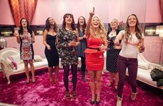 Women's business: the ladies can only discuss their secret challenge in the parlour.