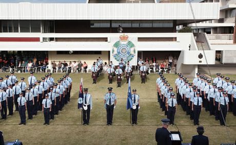 POLICE ACADEMY: Police Recruits graduating from Oxley Police Academy.