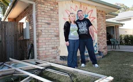 DAMAGE: Jason Roxburgh had a car crash into his Forest Lake home last Sunday night.