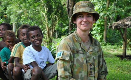 Captain Narelle Peach visited children while she was on rotation in the Solomon Islands.