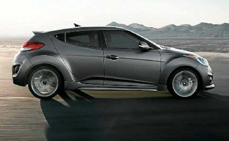 Retailing for less than $32,000, the Hyundai Veloster.
