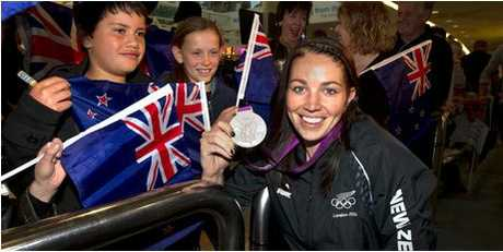 Sarah Walker arrives back in New Zealand after the Olympics