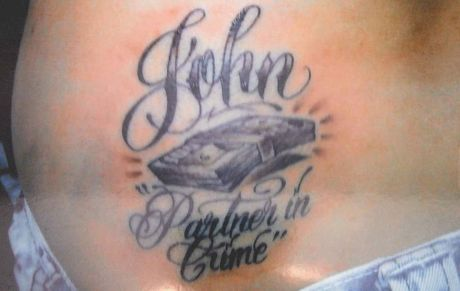 Police took this photo of Shailee Jane Kingston's tattoo.