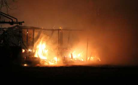SHED FIRE: A Biloela shed caught fire last night. 