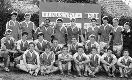 The Lindisfarne College 1st XV rugby squad who won the inaugural Central North Island secondary schools competition which ended on Wednesday.