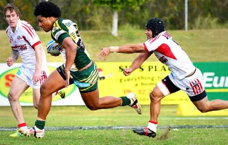 Ipswich Jets winger Ramon Filipine (left).