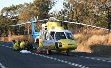 TWO INJURED: Two Biloela people have been airlifted from the Dawson Highway range between Biloela and Gladstone.