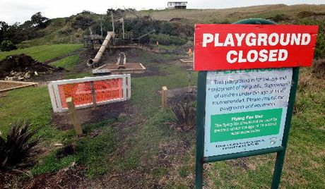 NEW GEAR: Mowhanau playground will soon reopen with new equipment that will appeal to children of all ages.PHOTO/ STUART MUNRO