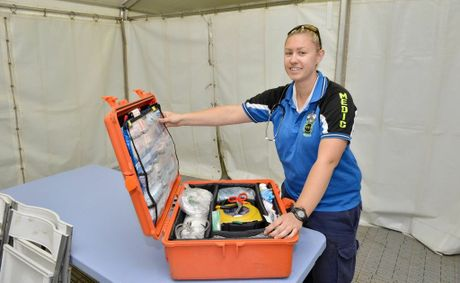 Medic Jess Jackling has been setting up the fully equipped field hospital at the Muster. Attendees will be looked after if they suffer anything from a scratch to a heart attack or a major accident.