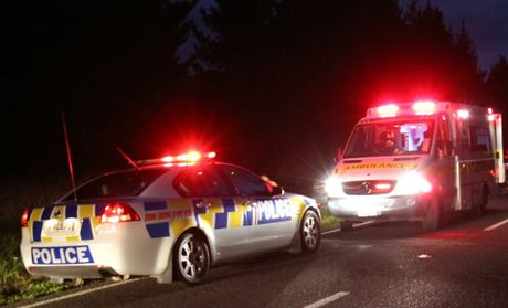 Emergency services were called to a crash on Park Rd in Katikati last night.