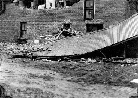 FLATTENED: Damage caused by another Wairarapa earthquake, in 1942. Research has shown the risk of the Wairarapa faultline rupturing in the next century is 1-2 per cent. PHOTO/WAIRARAPA ARCHIVE
