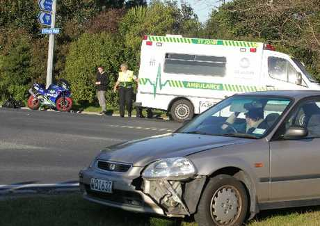 A car and motorbike collided on Oropi Rd.