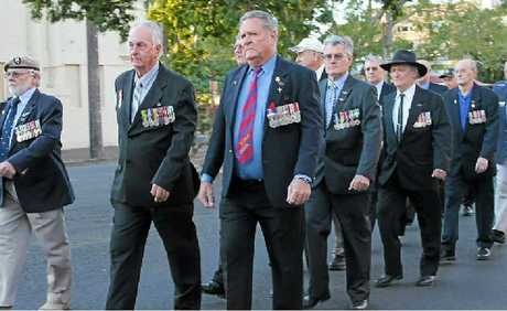 LEST WE FORGET: A dozen Vietnam veterans marched in Lismore on Saturday to commemorate the Battle of Long Tan.