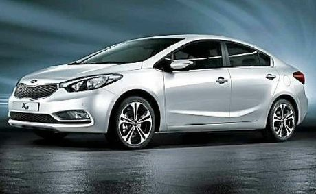 The new model Kia Cerato.